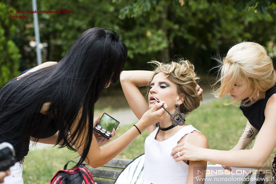 Veronica Bagnoli - Backstage Ph. Bruno Angelo Porcellana MUA Giuly Cirelli Fashion Designer MICHAmadeinitaly