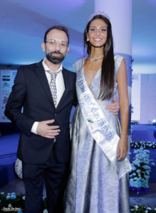 Donato Cellamare con Miss Europe Continental 2016