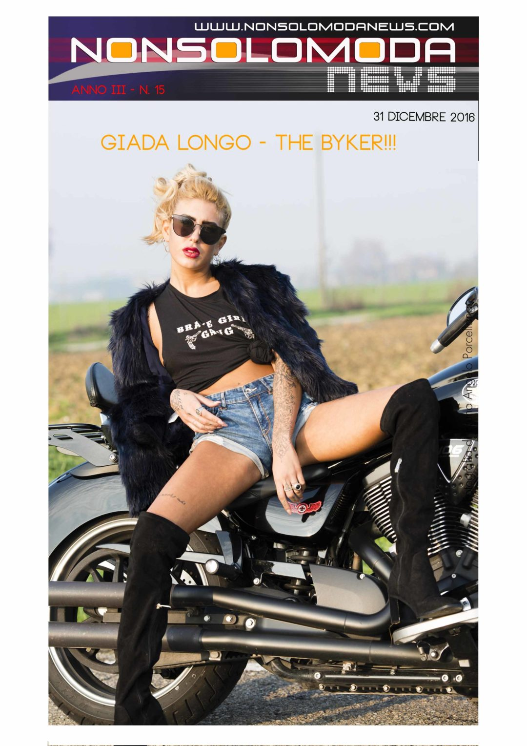 Nonsolomodanews - Giada Longo - The biker