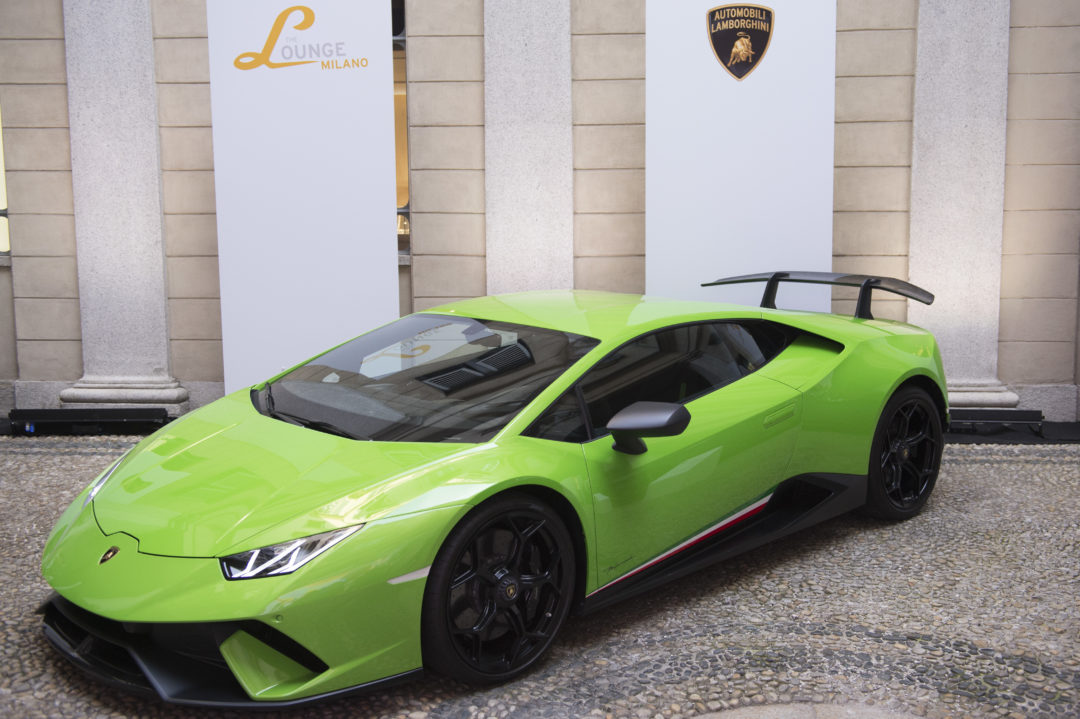 MILAN, ITALY - JUNE 16:  Atmosphere during Collezione Automobili Lamborghini SS 19 Presentation at Milan Men's Fashion Week 2018 on June 16, 2018 in Milan, Italy.  (Photo by Stefania M. D'Alessandro/Getty Imagesfor Lamborghini)